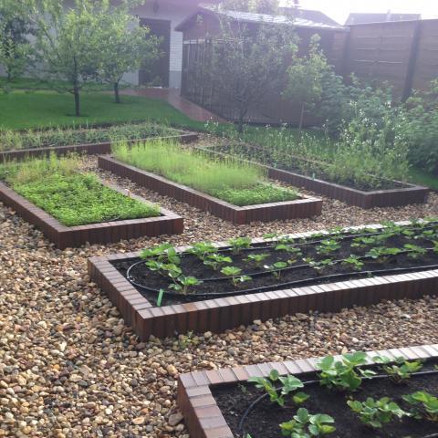 Дизайнерские огороды из клинкера