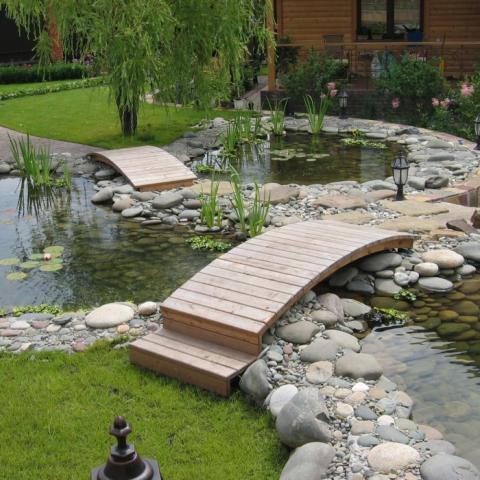 МАФ, деревянный мостик через пруд