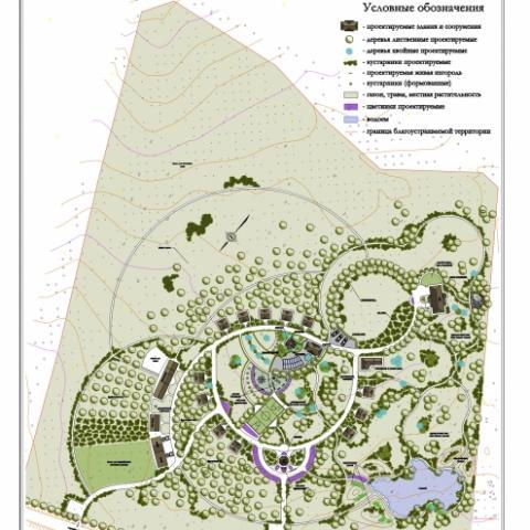 Ландшафтный проект пансионата 7 Га