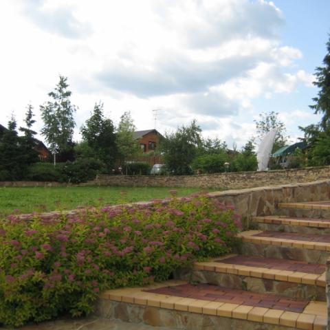 Садовая лестница из клинкера.