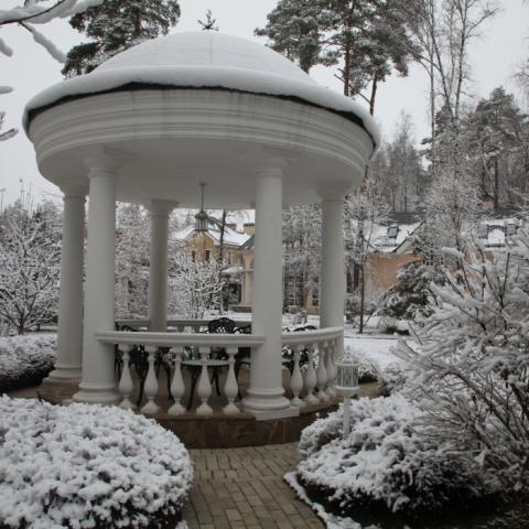 Ландшафтный дизайн, ротонда в парке русской усадьбы 19-го века