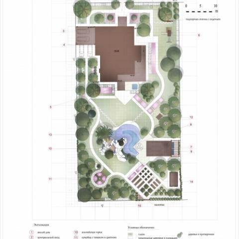 Ландшафтный проект сад 1 генеральный план 2