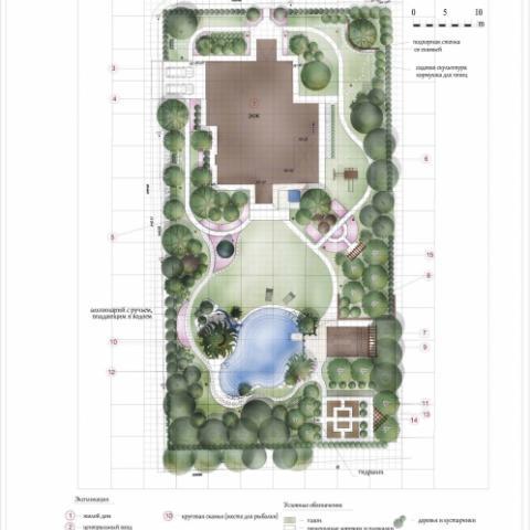 Ландшафтный проект сад 1 генеральный план 3