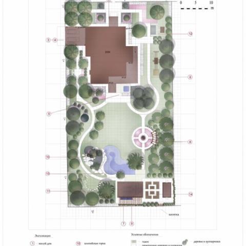 Ландшафтный проект сад 1 генеральный план 1