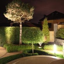 Освещение в саду, светильники