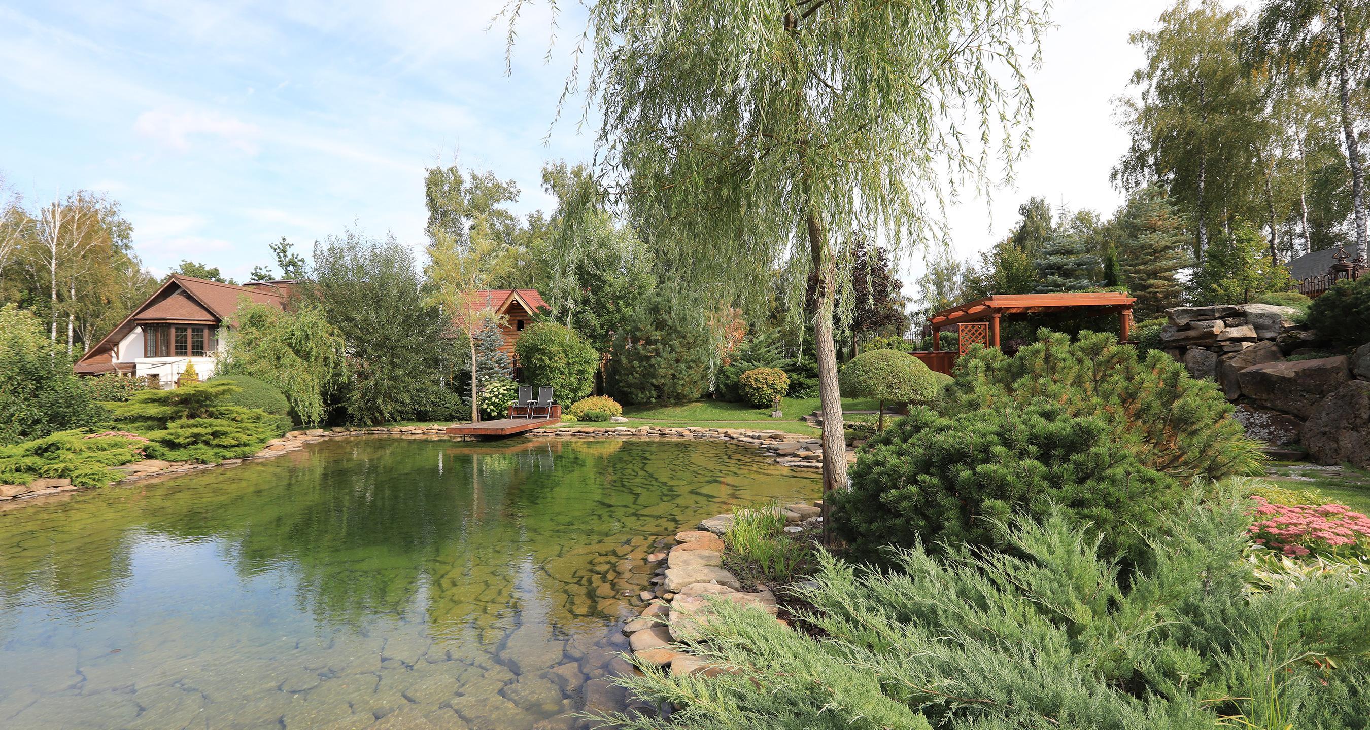 Создаем водные<br>объекты в садах<br>и парках