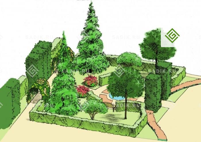 Ландшафтный проект 3d