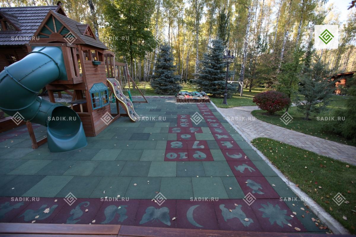 Детская площадка в ландшафтном дизайне дачи