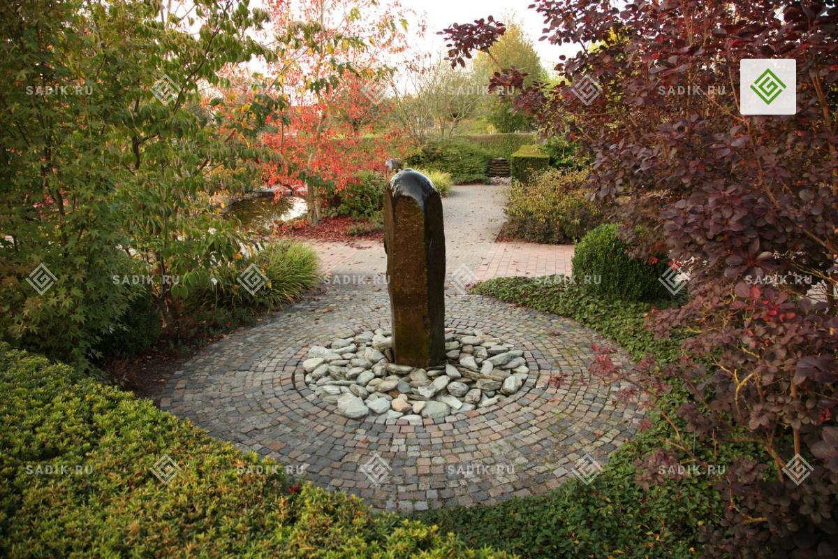 Классический фонтан в парке