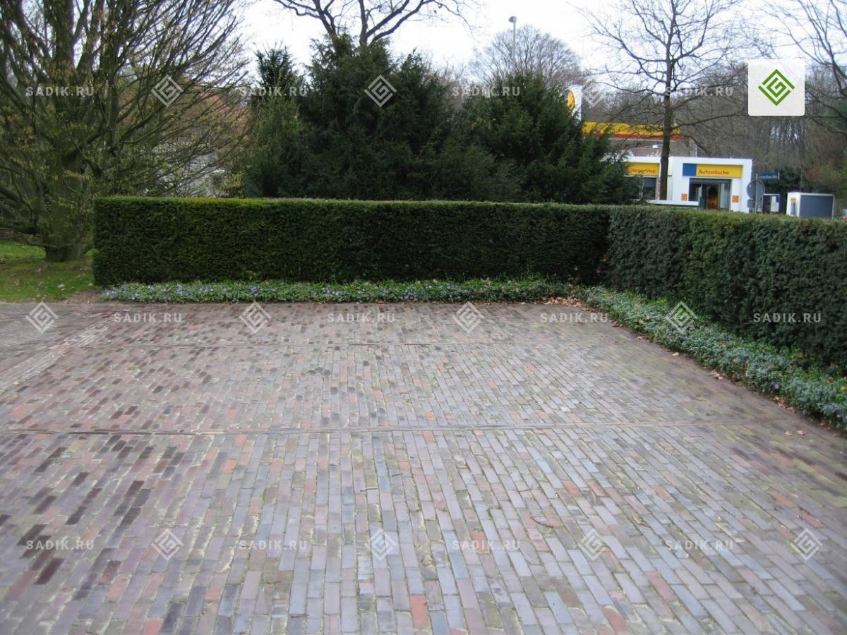Парковка в Германие - мощение кирпичом