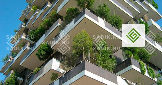 Озеленение небоскреба в Италии