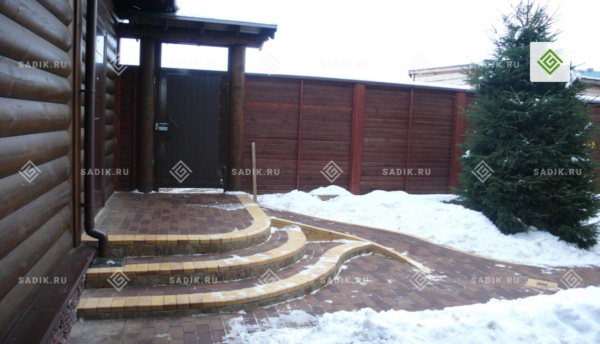 Садовые ступени и пандус для колясок
