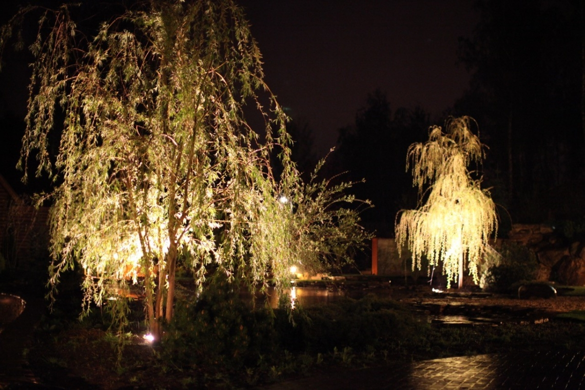 садовое освещение световые ландшафтные решения сада Sadikru